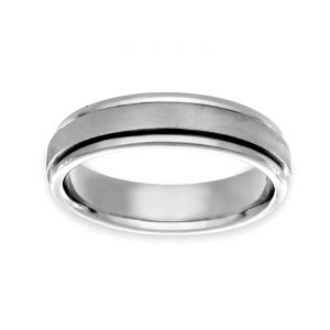 TWO by London 5.5mm Polished Edge Wedding Band