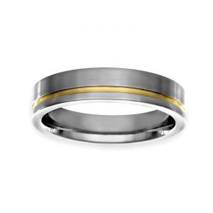 TWO by London Two Tone 5mm Matte Wedding Band