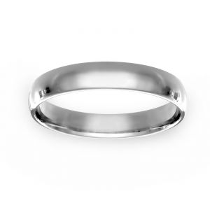TWO by London 5mm Thin Low Dome Wedding Band