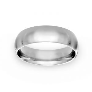 TWO by London 6mm Plain Low Wedding Band