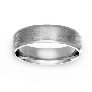 TWO by London 6mm Wire Finish Wedding Band