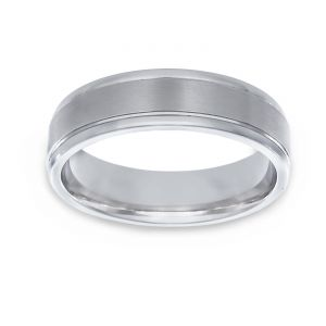 TWO by London Satin And Polished Wedding Band