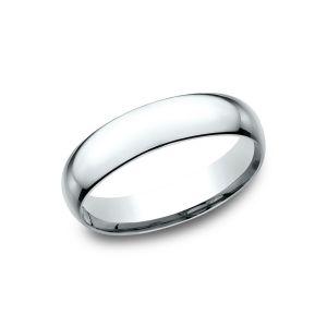 Benchmark Super Light 14k White Gold Comfort-Fit 5mm Wedding Ring