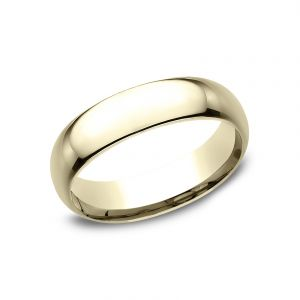 Benchmark 14k Yellow Gold Standard Comfort-Fit 6mm Wedding Ring