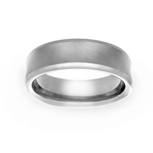 TWO by London 7mm Satin Polished Wedding Band