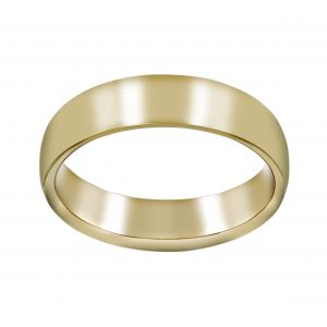 Henri Daussi High Shine Wedding Band
