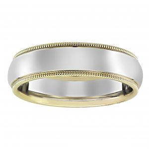 TWO by London 6mm Comfort Fit Coin Edge Wedding Band