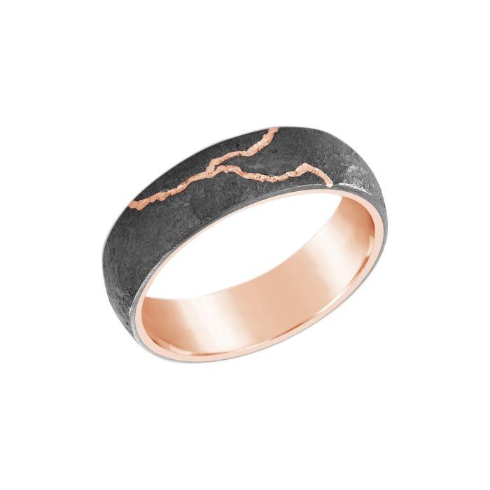 ANNIVERSARY RING Rose Gold  Titanium Rings 6mm width