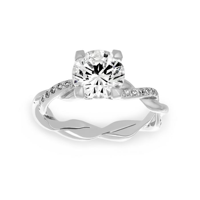 Two By London Michael B Petite Infinity Solitaire Engagement Ring London Jewelers Bridal Boutique